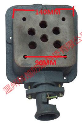 方形单柱式防爆电机接线盒背面结构实物图